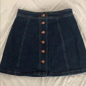 Madewell A-line Button Front Skirt